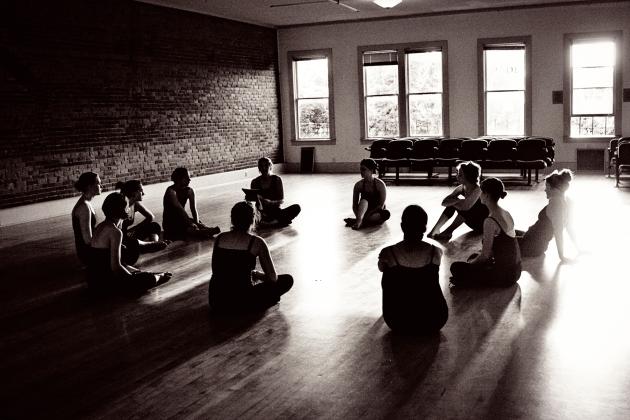 dance class in a circle