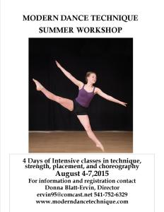 MDT SUMMER DANCE WORKSHOP 2015